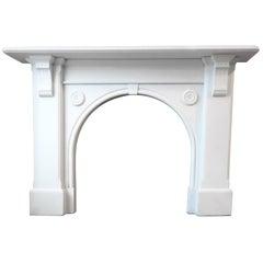 Irish 19th Century Victorian Statuary White Marble Fireplace Surround