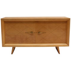 French Art Deco Two-Door Sycamore Buffet by Suzanne Guiguichon