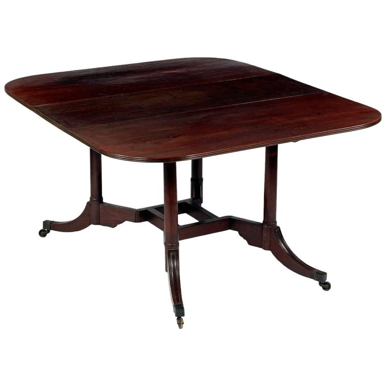 Rare Mahogany Cumberland Action Dining Table Possibly Duncan Phyfe Workshop For Sale