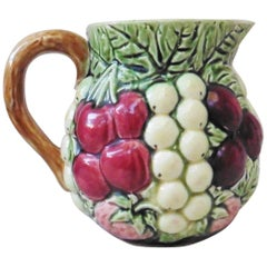 Majolica Sarreguemines Fruit Pitcher, circa 1930