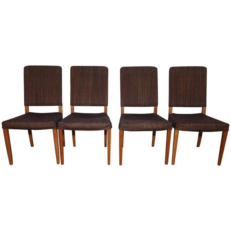 Set of four high quality carl malmsten gustavus dining for High quality dining room furniture