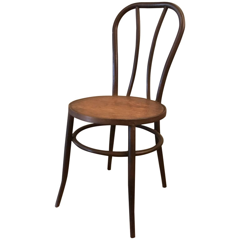 Thonet Iron Frame Café Dining Side Chair