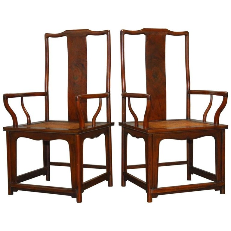 Pair of chinese ming style guanmaoyi official 39 s armchairs for South asian furniture