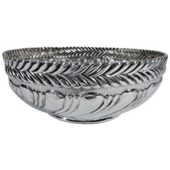 Antique Tiffany Sterling Silver Bowl with Bold Ornament