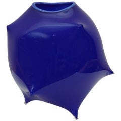 Art Glass Vessel in Cobalt Blue
