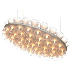 Moooi Prop Suspension Light in Round with Led Lights on One or Both Sides