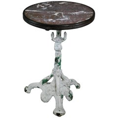 Stone Top Coffee Table With Cast Iron Base For Sale At 1stdibs