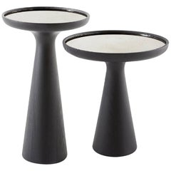 Fante Side Table in Solid Wood and Marble by Gallotti & Radice