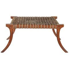 Midcentury Klismos Style Wood Bench