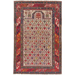 Antique Caucasian Shirvan Prayer Rug, circa 1850