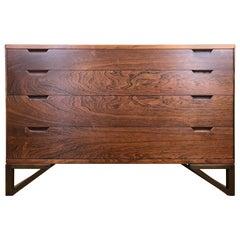 Rare Danish Modern Rosewood Chest Dresser by Svend Langkilde Illums Bolighus