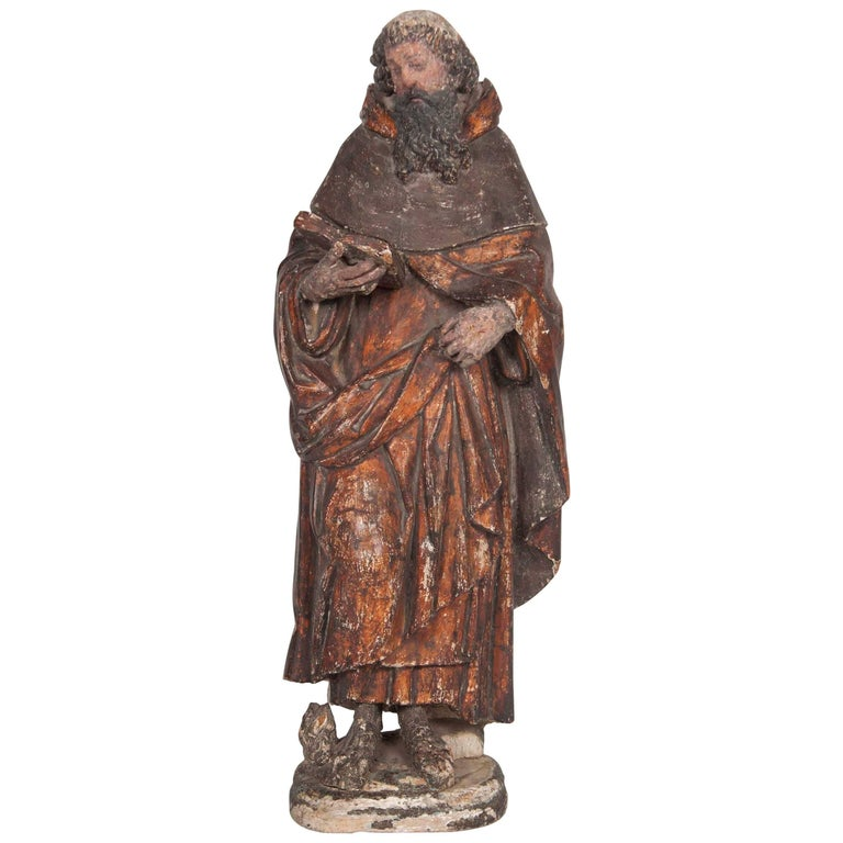 Italian Renaissance Carving of a Male Saint For Sale