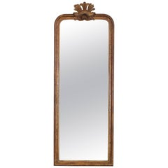French Louis Philippe Giltwood and Shell Carved Mirror, Mid-19th Century