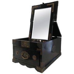 Chinese Cosmetic Chest Makeup Box with Mirror