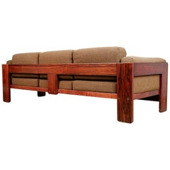 Tobia Scarpa Bastiano Rosewood Sofa for Gavina, Italy, circa 1960