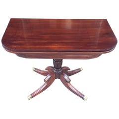 19th Century Regency Satinwood Barbados Card Table