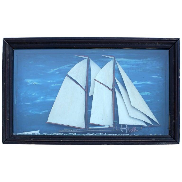 American Schooner Ship Diorama