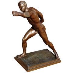 Grand Tour Bronze Sculpture the Borghese Gladiator