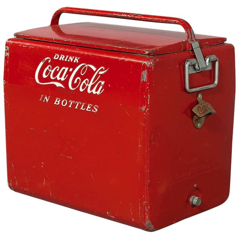 Original Metal Coca-Cola Bottle Cooler