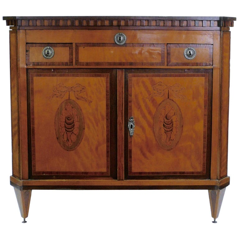 Fine Early 19th Century Dutch Inlay Commode or Klapbuffet