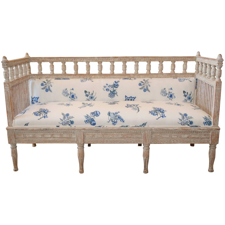 18th Century Period Swedish Gustavian Sofa For Sale