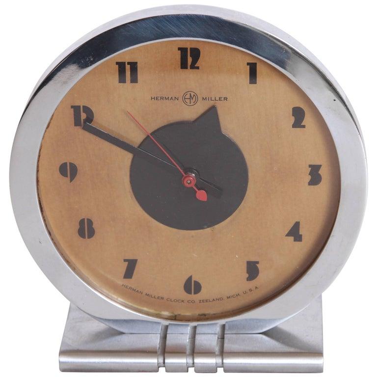 Machine Age Art Deco Gilbert Rohde for Herman Miller Iconic Desk Clock