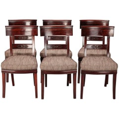 Set of Six French First Empire Dining Chairs