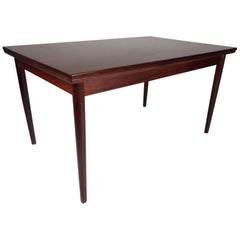Mid-Century Modern Rosewood Draw Leaf Dining Table by Edmund Jorgensen