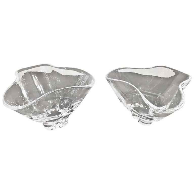Pair of Steuben Nut Bowls