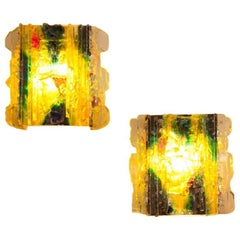 """Pair of RAAK Glass """"Chartres"""" Sconces"""