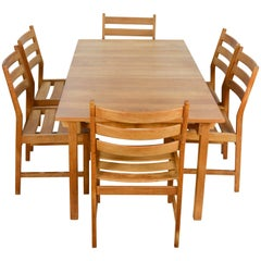 Kurt Ostervig Rustic Modern Oak Dining Set for KP Mobler of Denmark