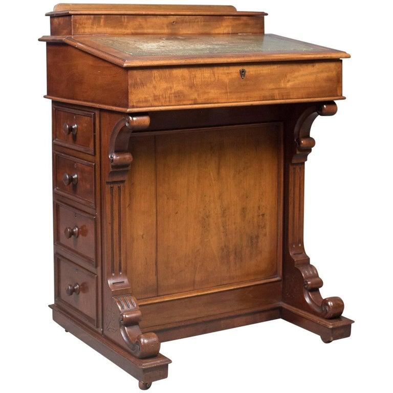 Antique Davenport English Victorian Writing Desk Gany Circa 1870