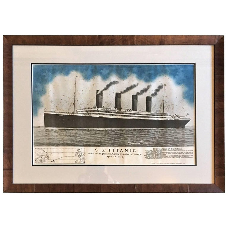 Period Printed Broadside of the Titanic Catastrophe, Published on April 15, 1912 For Sale