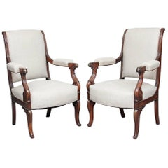 Pair of 19th Century Rosewood Armchairs