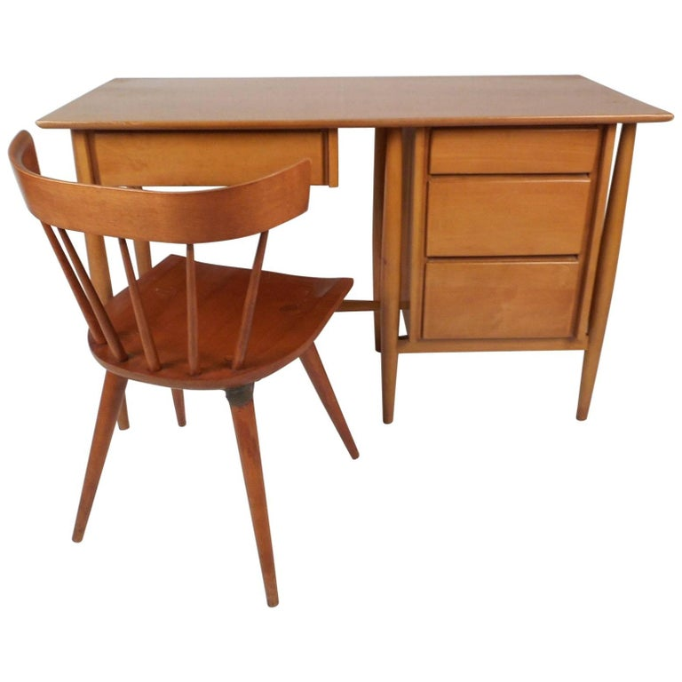 Mid Century Modern Desk And Chair By Paul Mccobb For