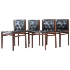 Four Chairs Solid Rosewood by Lübke, Germany, 1960