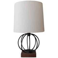 Vintage Iron Sphere Table Lamp