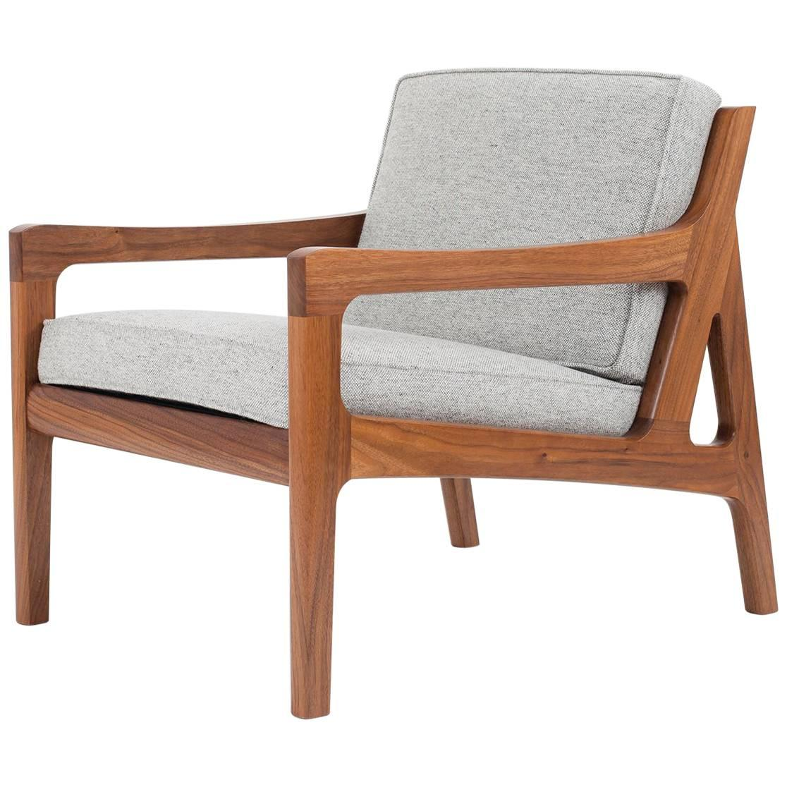 Asa Pingree Pilar Lounge Chair in American Walnut