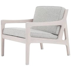 Asa Pingree Pilar Lounge Chair in Fog Gray Ash