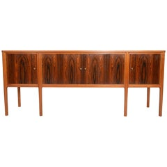 Scottish Mid-Century Modern Credenza in Rosewood and Mahogany