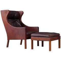 Borge Mogensen Club Chair and Footstool