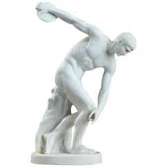 Late 19th Century Biscuit Discobolus After the Antique