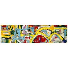 """BK Adams, I Am Art """"Time Won't Wait"""", Mixed-Media on Canvas"""