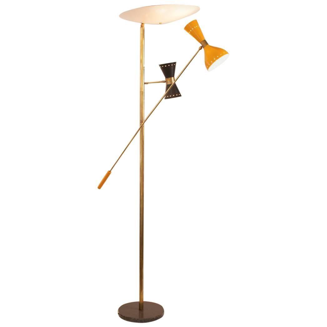 Mid Century Modern Italian Floor Lamp In The Manner Of Arteluce
