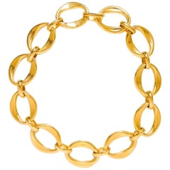 Chanel Gold Tone Link Necklace