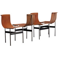 Set of Four T-Chairs by Katavolos, Little and Kelly