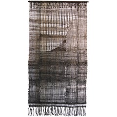 Large off Loom Weaving Fiber Art Wall Hanging