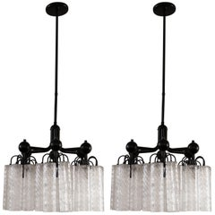 Italian Pair of Chandeliers in Style of Venini