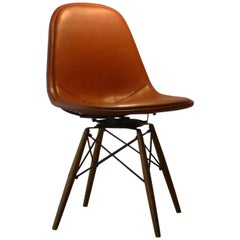Charles & Ray Eames Swivel Dowel Legged Chair; Dkw-1 , Vintage Herman Miller