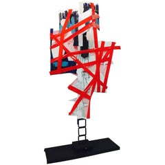 "BK Adam. I Am Art  ""No Words"" - Steel Sculpture & Plastic 2014"